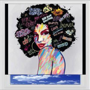 Funk Soul Woman Digitally Printed Photo Roller Blind