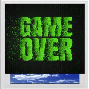 Game Over Digitally Printed Photo Roller Blind