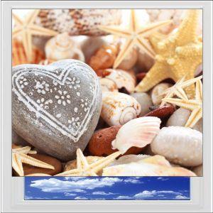 Heart Seashells Digitally Printed Photo Roller Blind