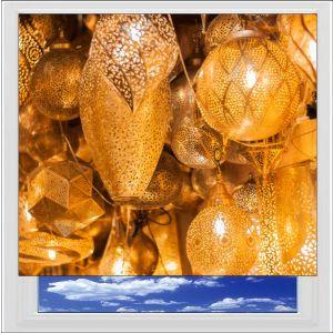 Oriental Lampshades Digitally Printed Photo Roller Blind